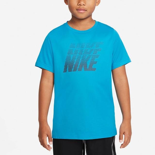 【NIKE 耐吉】上衣 男童 大童 短袖上衣 運動 B NK DF BREATHE GFX SS TOP 藍 DD8539-411
