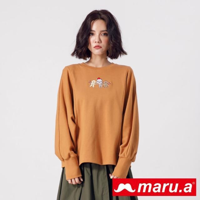 【maru.a】薑餅人與Miru連袖上衣(駝色)