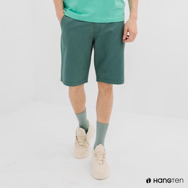 【Hang Ten】男裝-REGULAR FIT經典短褲-淺綠