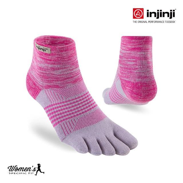【Injinji】TRAIL女性野跑避震吸排五趾短襪[桃紅](避震款 野跑襪 五趾襪 短襪 女襪)