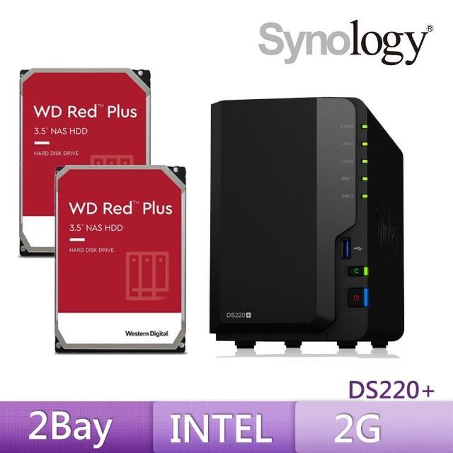 【搭WD 紅標 4TB x2】Synology 群暉科技 DS220+ 網路儲存伺服器