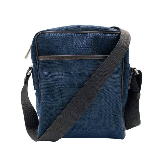 【Louis Vuitton 路易威登】Citadin NM 帆布拉鍊斜背包(N41437-深藍)