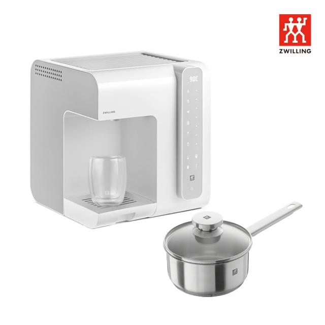 【ZWILLING 德國雙人】即熱調溫飲水機(白色)+Joy不鏽鋼單柄鍋