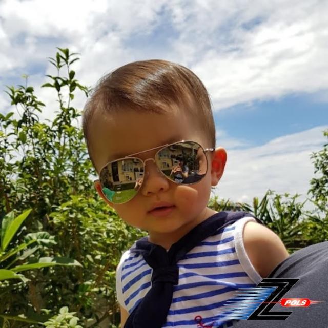 【Z-POLS】複刻版時尚設計 頂級抗UV400 金屬風格太陽眼鏡(兒童流行款 多色可選 盒裝全配)