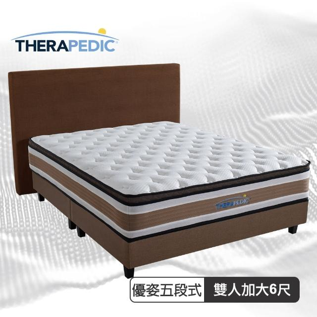 【Therapedic 沛迪醫生】沛迪醫生Therapedic 優姿五段獨立筒三線護脊彈簧床墊雙人6尺(比利時超微天絲)