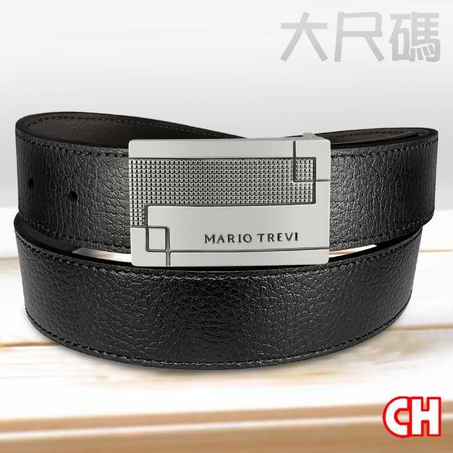 【CH-BELT 銓丞皮帶】大大大加長尺碼休閒紳士扣皮帶腰帶(黑)