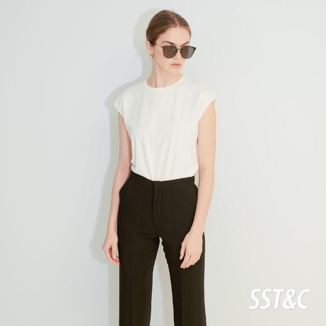 【SST&C】白色圓領無袖上衣7662104001
