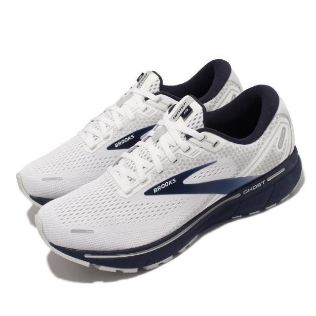 【BROOKS】慢跑鞋 Ghost 14 運動休閒 男鞋 路跑 避震 合腳 穩定 彈力 灰 藍(1103691D190)