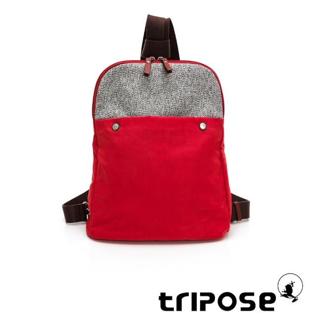 【tripose】漫遊系列斜背後背包(番茄紅)