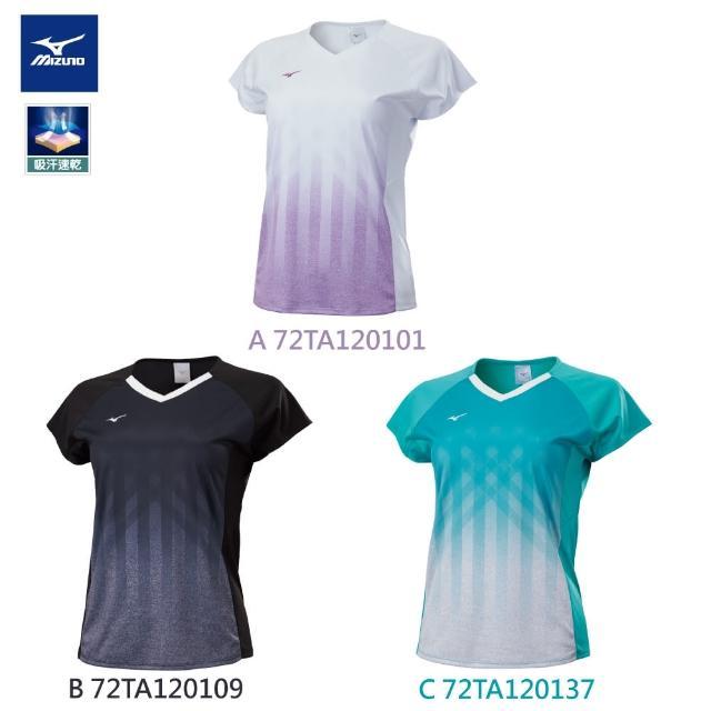 【MIZUNO 美津濃】女羽球短恤T恤 72TA1201XX(任選一件)(T恤)