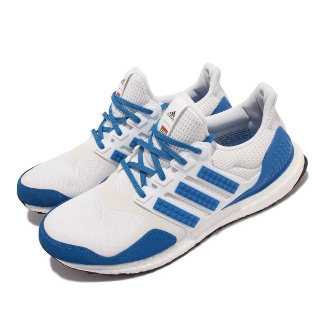【adidas 愛迪達】慢跑鞋 Ultraboost DNA 運動 男女鞋 愛迪達 LEGO聯名 反光 襪套 情侶款 白 藍(H67952)