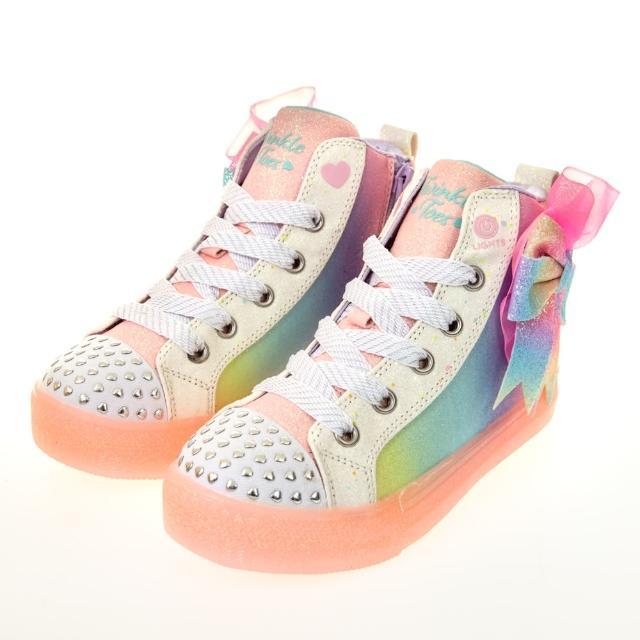 【SKECHERS】女童系列 燈鞋 SHUFFLE BRIGHTS(314258LLPMT)