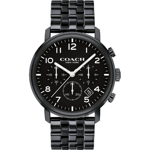 【COACH】三眼計時日曆手錶-42mm(14602538)