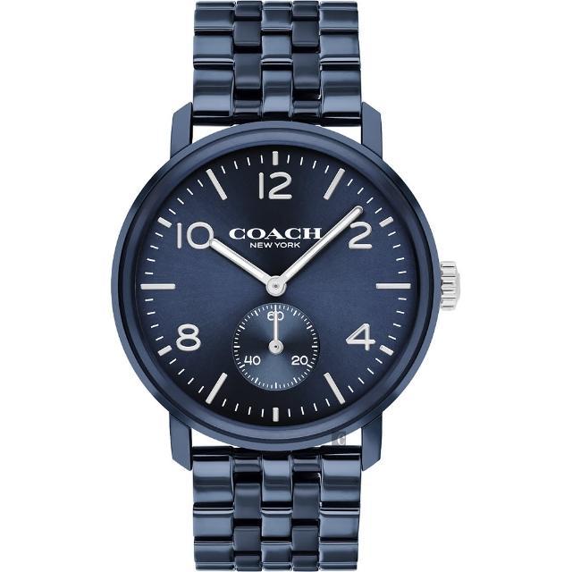 【COACH】時尚小秒盤紳士手錶-42mm(14602535)
