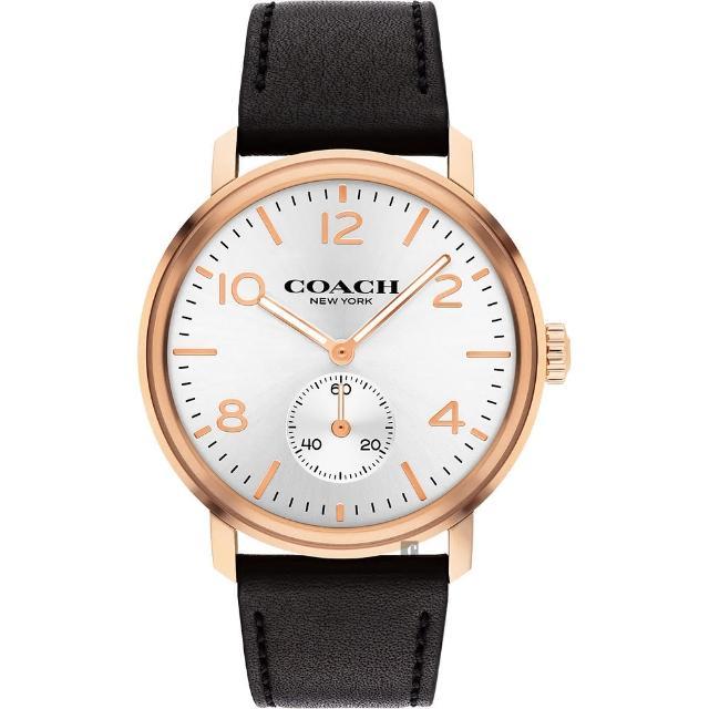 【COACH】時尚小秒盤紳士手錶-42mm(14602543)
