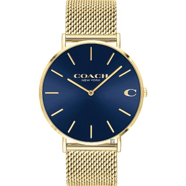 【COACH】經典C字Logo米蘭手錶-41mm(14602551)