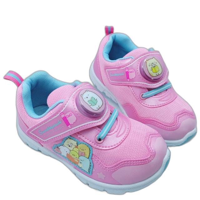 【樂樂童鞋】台灣製角落生物電燈運動鞋-粉紅-B019(女童鞋 男童鞋 運動鞋 布鞋)