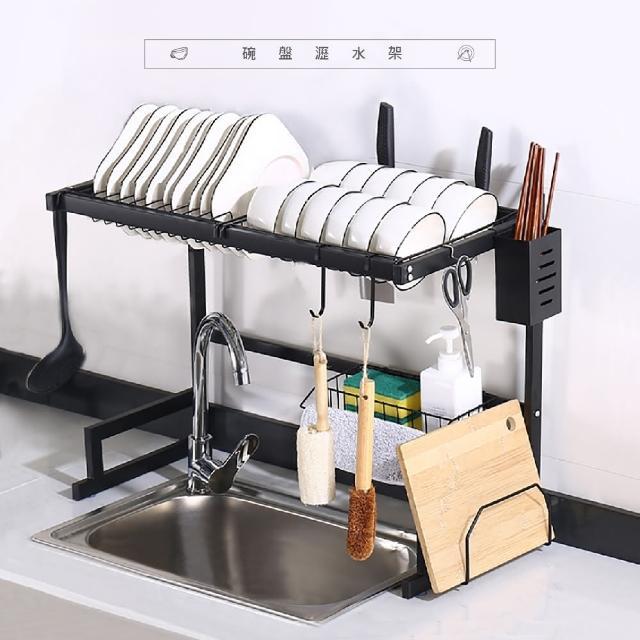 【VENCEDOR】不鏽鋼水槽置物架 碗架碗盤架 水槽瀝水架(水槽置物架 廚房收納神器 碗盤瀝水-63公分單槽1入)