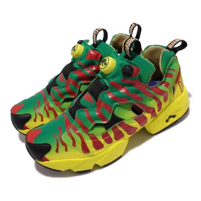 【REEBOK】休閒鞋 Instapump Fury Og X 男鞋 Jurassic Park 侏儸紀公園 綠 紅(GW0212)