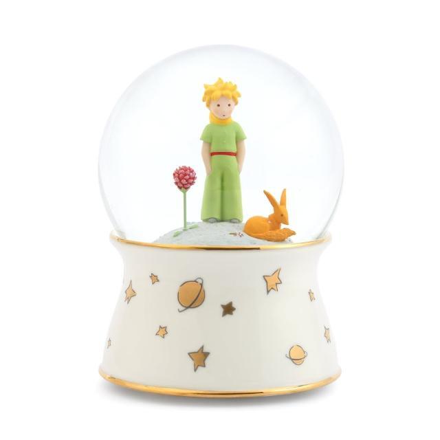 【JARLL 讚爾藝術】小王子與玫瑰、狐狸的相遇 水晶球音樂盒(生日情人告白 新居擺飾 彌月禮物 七夕情人節)
