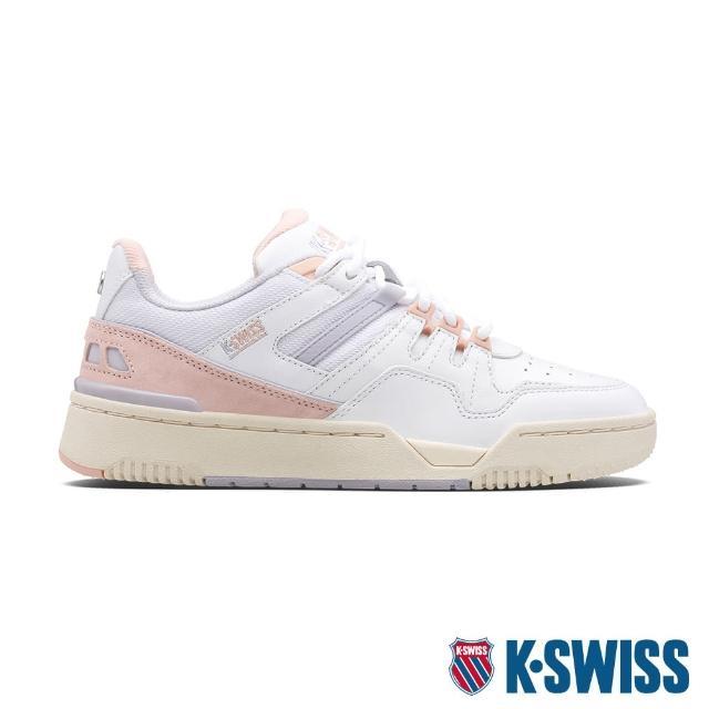 【K-SWISS】時尚運動鞋 Match Rival-女-白/乾燥玫瑰粉(97154-145)