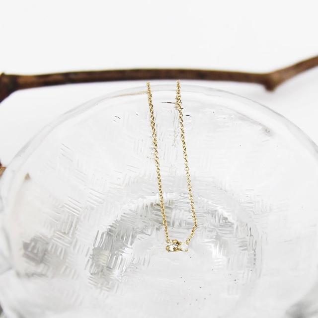 【Dinner collection】水晶蛋白石小墜金項鍊