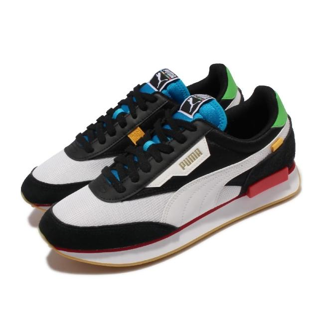 【PUMA】休閒鞋 Future Rider WH 女鞋 海外限定 撞色 異材質拼接 穿搭推薦 黑 多色(373384-02)