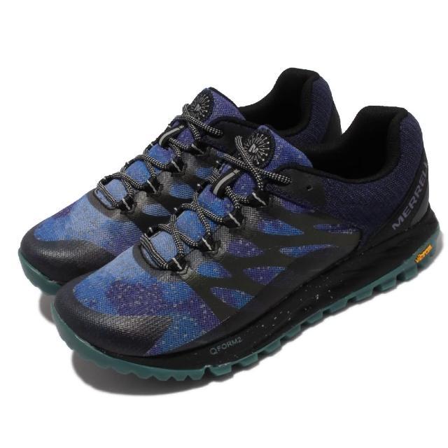 【MERRELL】戶外鞋 Antora 2 Night Sky 女鞋 登山 越野 耐磨 黃金大底 反光 透氣 藍 黑(ML067110)