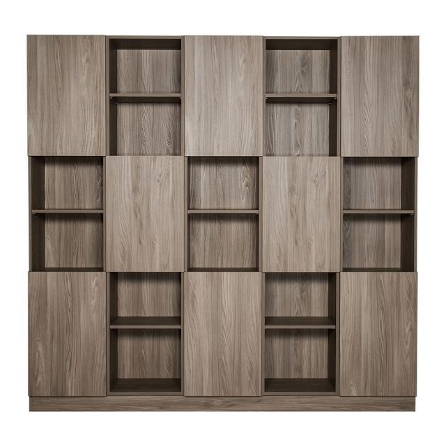 【Arkhouse】伯利恆系列-書房八門三十格7.5尺五高櫃W225*H218*D35