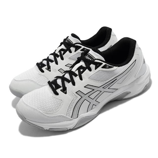 【asics 亞瑟士】排球鞋 GEL-Rocket 10 運動 男鞋 亞瑟士 緩衝 平穩 膠底 中階 亞瑟膠 白 銀(1071A054105)