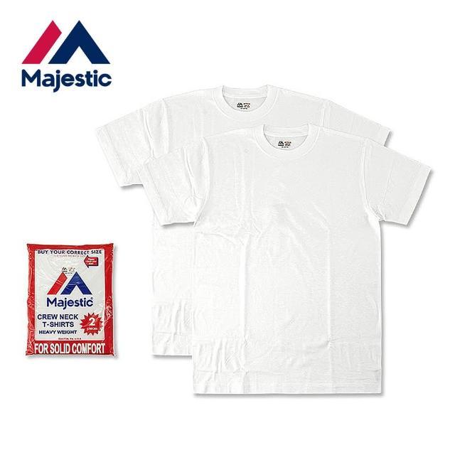 【Majestic】Heavy Weight日本線重磅圓領上衣組(白色2件入)