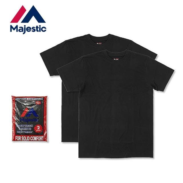 【Majestic】Heavy Weight日本線重磅圓領上衣組(黑色2件入)