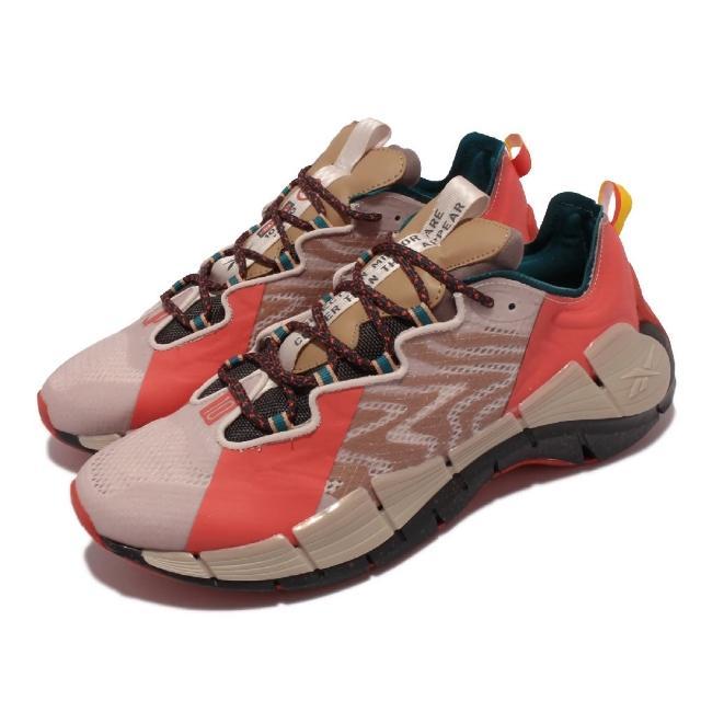 【REEBOK】慢跑鞋 Zig Devil Kinetica 男鞋 Jurassic Park 侏儸紀公園 奶茶紅色(GY8275)
