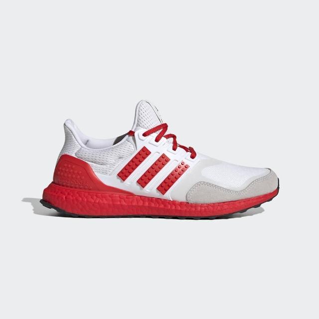 【adidas 愛迪達】慢跑鞋 男款 運動 健身 樂高 ULTRABOOST DNA X LEGO COLORS 紅白 H67955