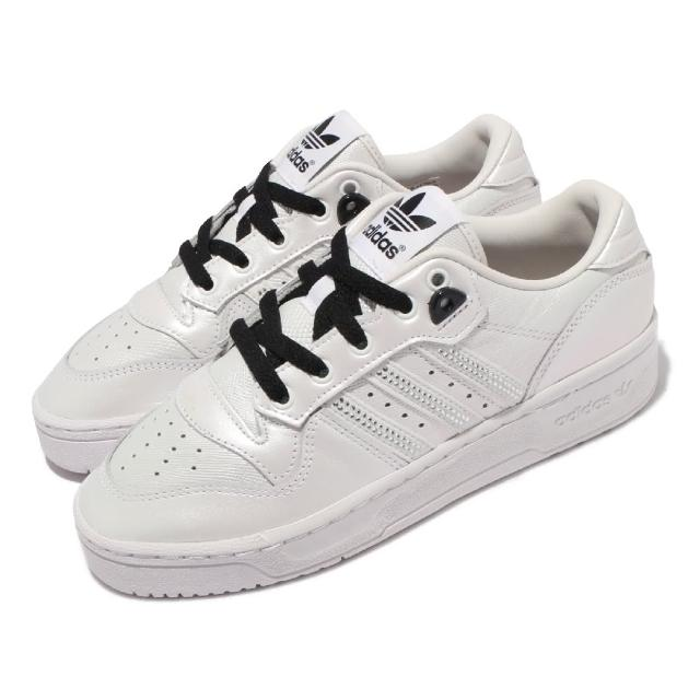 【adidas 愛迪達】休閒鞋 Rivalry Low 運動 女鞋 海外限定 愛迪達 復古 三葉草 穿搭 珍珠白(FV3436)