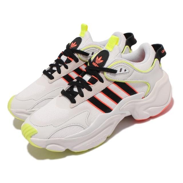 【adidas 愛迪達】休閒鞋 Magmur Runner 運動 女鞋 海外限定 愛迪達 厚底 舒適 球鞋穿搭 白 黑(EH1094)