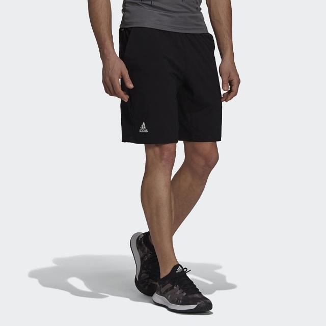 【adidas 愛迪達】短褲 男款 運動 健身 慢跑 球褲 ERGO SHORT 黑 GT7836