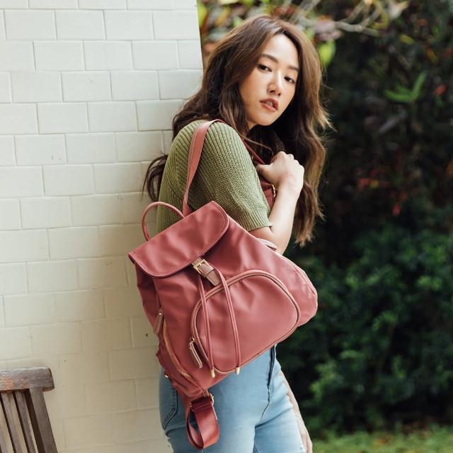 【FUNNNY】質感加厚尼龍後背包 Olivia 多色選(後背包)