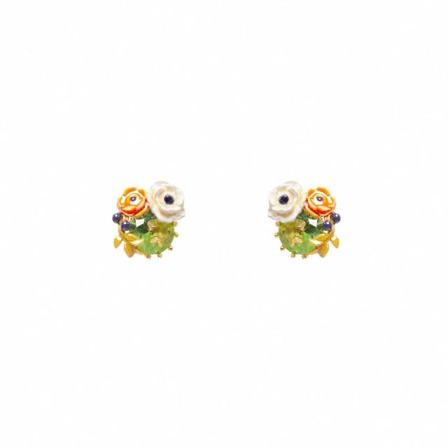 【Les Nereides】小小庭園-罌粟花耳環