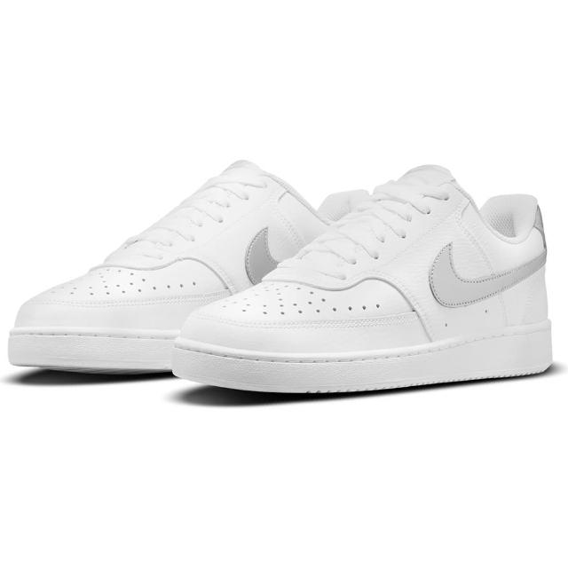 【NIKE 耐吉】休閒鞋 WMNS NIKE COURT VISION LOW 女鞋 白灰(CD5434111)