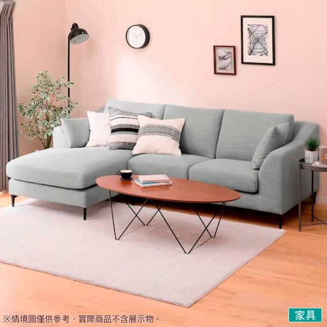【NITORI 宜得利家居】◎布質右躺椅L型沙發 N-POCKET A15 DR-MGY(L型沙發 角落沙發 躺椅沙發)
