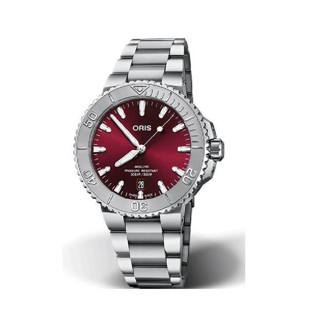【ORIS 豪利時】ORIS AQUIS RELIEF鋼帶潛水錶/41.5mm(0173377664158-0782205PEB)
