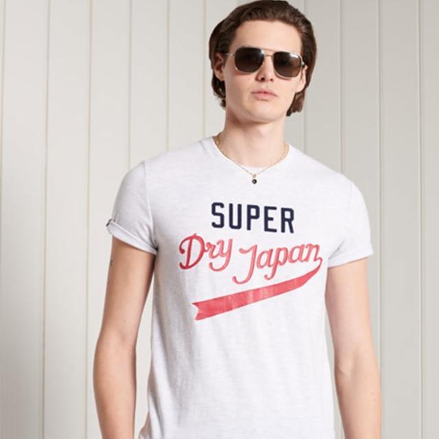【Superdry】男裝 短袖T恤 美式學院風 COLLEGIATE(白)
