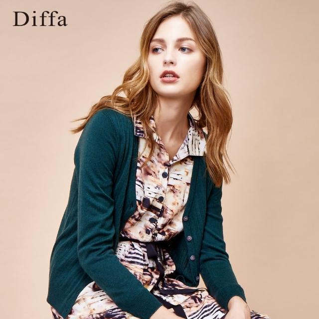 【Diffa】CA羊毛混紡開襟衫