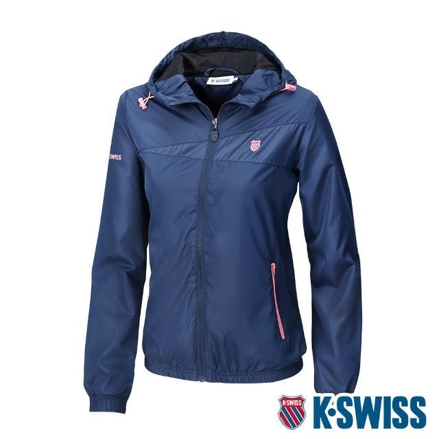 【K-SWISS】風衣外套 BS SOLID JACKET 2-女-深藍(195776-426)
