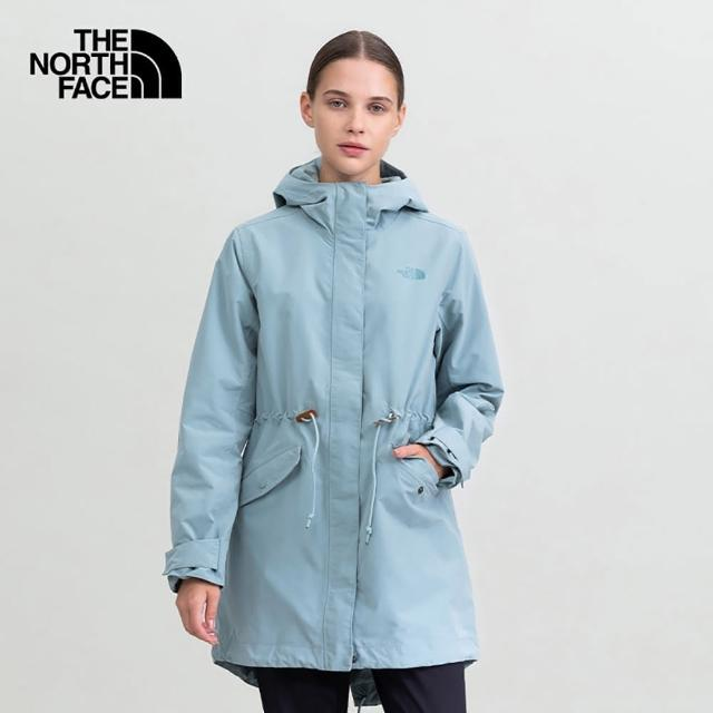 The North Face【The North Face】北面女款藍色防水透氣連帽衝鋒衣|5AYC0LK