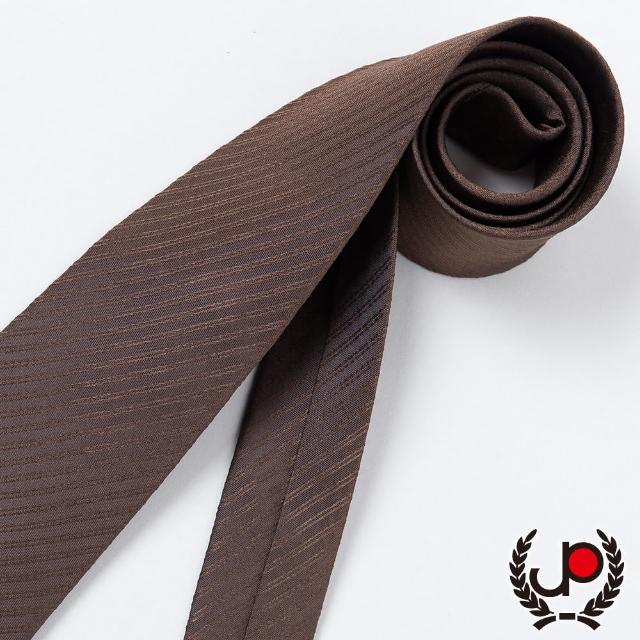 【JYI PIN 極品名店】經典Teflon防潑水100%絲斜紋領帶_ 咖啡暗紋(YT3001)