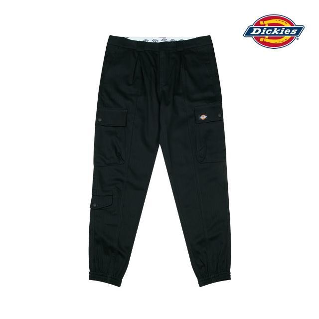 【Dickies】男款黑色純棉斜紋多口袋縮口褲 DK008779BLK