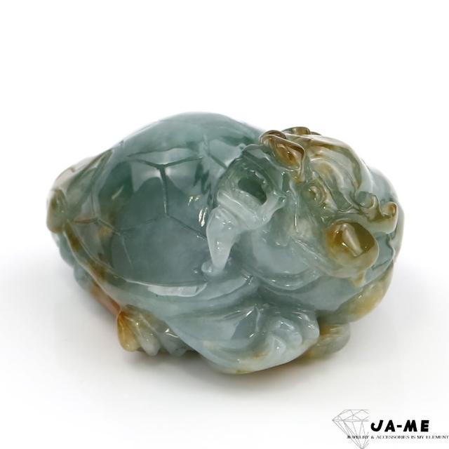 【JA-ME】天然A貨翡翠三彩龍龜項鍊