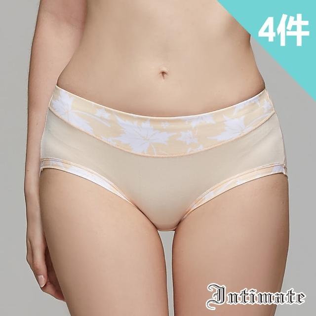 【Intimate 內著】舒棉透氣彈力包臀內褲-楓葉(特惠4件組)